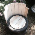 Удобное кресло, изготовленное с помощью колес