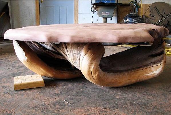 Удобное кресло на основе бруса