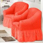 Оригинальные коралловые кресла для интерьера