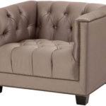 Уютное серо-коричневое кресло для дома