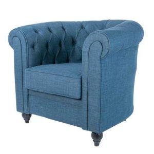 Уютное синее кресло для классического интерьера