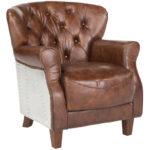Внешний вид коричневого кресла