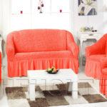 Яркие коралловые кресла для обустройства дома