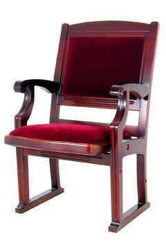 Яркое красное кресло из бука