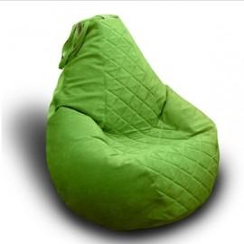 Зеленое кресло мешок из велюра