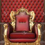 Золотое кресло для шикарного интерьера