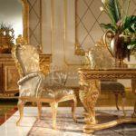 Золотое кресло, созданное для обустройства дома
