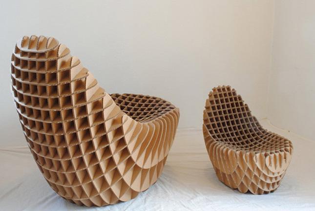 кресла из картона