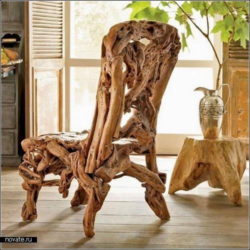кресла из коряги для дома