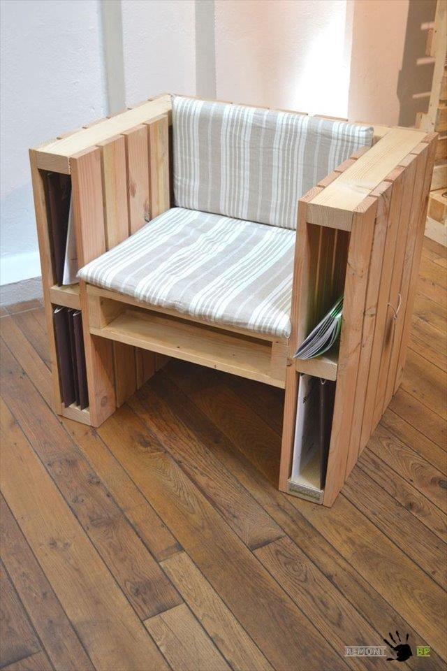 кресла из поддонов