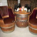 кресло из деревянной бочки