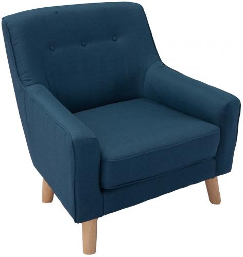 кресло в синем цвете