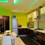 Потолок на кухне: советы оформления