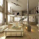 Дизайн помещений с высоким потолком
