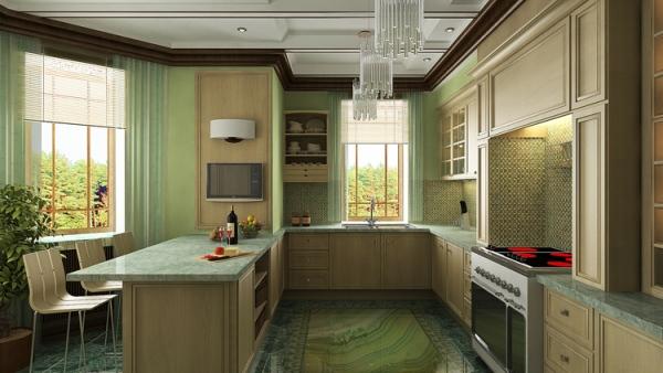 Дизайн-интерьера-кухни-в-деревянном-доме24