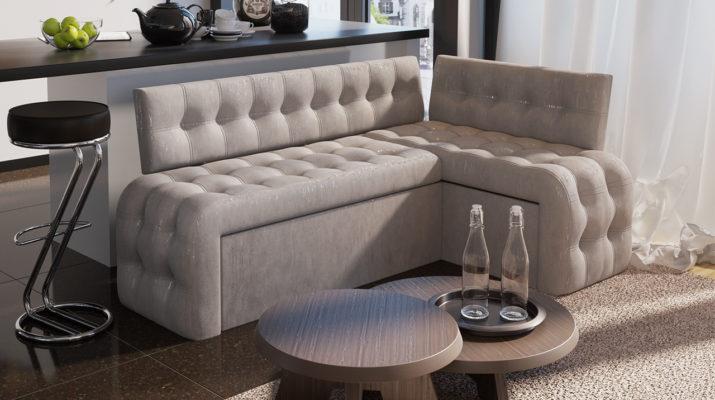 Кухонный диван Манчестер со спальным местом Серый
