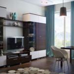 Использование модульной мебели в интерьере гостиной