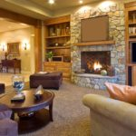 Камин как элемент дизайна гостиной комнаты