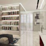 Стеллажи в интерьере: дизайн маленькой площади