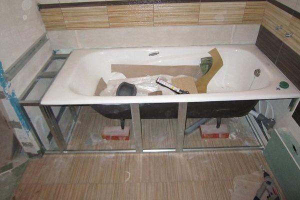 Основные особенности установки ванны своими руками