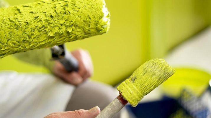 Основные виды красок для отделки помещения