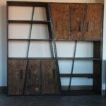 Стильные стеллажи в стиле лофт — максимум свободного пространства в помещении
